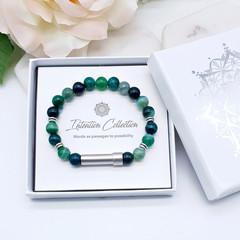 Green Agate Beaded Intention Bracelet | Wish Bracelet | Secret Message Bracelet