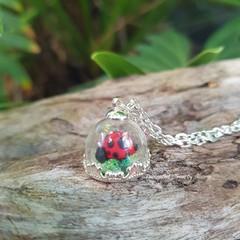 Captured Ladybird Pendant