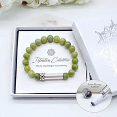 Abundance | Peridot Beaded Intention Bracelet | Green Peridot Wish Bracelet |