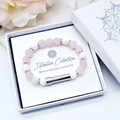 Rose Quartz Wish Bracelet for Mother | Personalised Jewellery | Custom Secret