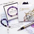 Rose Quartz Intention Bracelet | Rose Quartz & Howlite Wish Bracelet |