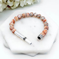 Peach Netstone Beaded Intention Bracelet | Wish Bracelet | Secret Message