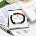 7 Chakra Beaded Intention Bracelet | Wish Bracelet | Secret Message Bracelet |