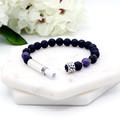 Black Lava & Amethyst Diffuser Bracelet | Gemstone Intention Bracelet | Secret M