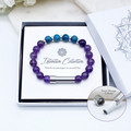 Amethyst Beaded Intention Bracelet | Wish Bracelet | Secret Message Bracelet |