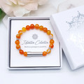 Orange Agate Beaded Intention Bracelet | Wish Bracelet | Secret Message Bracelet