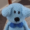 Dani Bear : crochet, safe, OOAK, washable, baby shower, by CuddleCorner