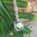 Captured Ladybird on a Daisy in a Glass Pendant