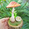 Fairytale Mushroom Sculpture with a little Tooth Fairy bowl