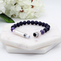 Beaded Diffuser Intention Bracelet | Black Lava, Amethyst & Rose Quartz Bracelet