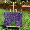 Jacaranda , Dot mandala painting