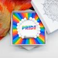 White PRIDE Bracelet | LGBTQIA Rainbow Bracelet | PRIDE Gift | Wish Bracelet |