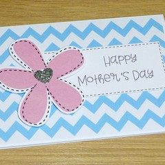 Mothers Day Card  - Pink flower