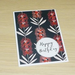 Birthday card - Australian Natives