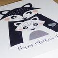 Mothers Day Card  - cute Scandi style mother and child