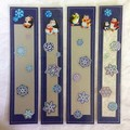 Four 'Puffy Penguin' Bookmarks / Party Favours
