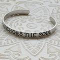 Cuff Bangle 'HOPE ANCHORS THE SOUL'
