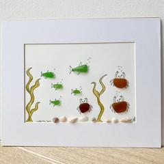 """Sea Glass art """"Under the sea"""""""