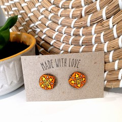 Retro Orange Studs 19mm