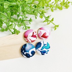 Watercolour Fabric Stud Earrings