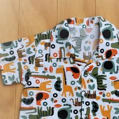 Animals in Autumn -  Boy's Button up Shirt - Size 1