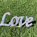 LOVE- Original hand painted mandala style gift& decor