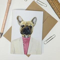 French Bulldog Greeting Card