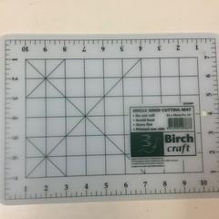 Single sided cutting mat