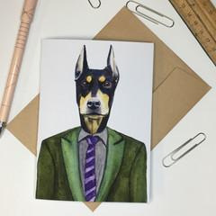 Doberman Greeting Card
