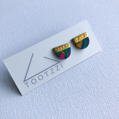 STREET PARTY - Mini Marbleous Foiled Studs - Pattern