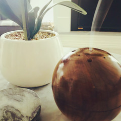 Teak Incense Holder
