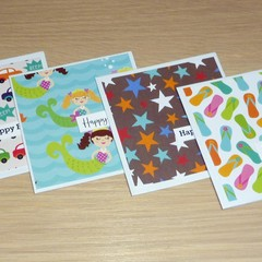 Kids Birthday cards  - set of 4