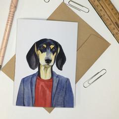 Dachshund (Sausage Dog) Greeting Card