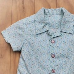 Triangle Tangle - Boy's Button up Shirt - Size 2