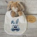 Personalised 1st Easter baby bib, Easter gift, easter bunny,