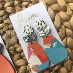 Recycled Red Pink Blue White Orange Silver Glitter Dangles | Eco-friendly