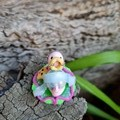 Polymer clay baby princess snail ornament - mini snail figure