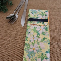 Cutlery Pouch with Cutlery-  Daisy