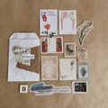 B - 100 Piece Mixed Neutral/Natural Vintage Ephemera | Happy Mail | junk journal