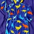 Boys Dinosaur SWIM ROBE with WATERPROOF back -  Sizes 1 & 2