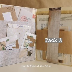 A - 100 Piece Mixed Neutral/Natural Vintage Ephemera | Happy Mail | junk journal