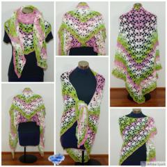 Crochet Watermelon Shawl