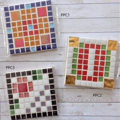 'Pixel Plus' Mosaic Coasters (Sets of 2)