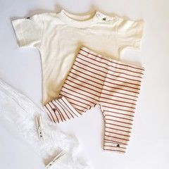 Hand-Embroidered Bumble Bee T-Shirt & Pant Legging Set Newborn Baby Outfit Gift