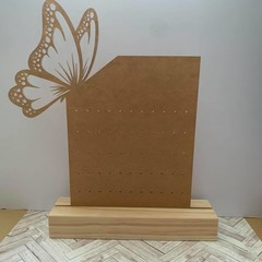 personalised Clear Butterfly Rectangle Earring Display