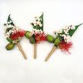 Australian Native Buttonhole - Eucalyptus Blossom Gumnuts - Aussie Boutonniere