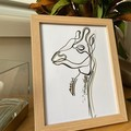 Lined Giraffe Framed Artwork