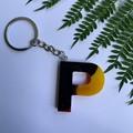 Aboriginal colours Letter keychains