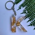 Custom Letter foil keychain