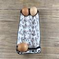 Pink Flamingo Egg Tray - Handmade Ceramic Egg Carton - Gift